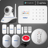 LS111- Android IOS App gsm home alarm system + TFT color UI menu smart home security alarma комплект Linkage WIFI HD N62 ip camera