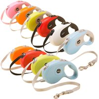 Wholesale Extending Leash - 10Ft 16Ft 40KG Dogs Retractable Dog Leash Flexible Automatic Extending Walking Lead Rope Traction for Small Medium Dog 10 Colors