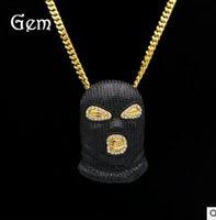 Wholesale Death Pendants - Death necklace Death Eater mask Knights of Walpurgis vintage pendant jewelry masked man CS game diamond pendant