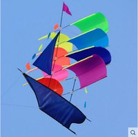 Wholesale Outdoor Fun Sports D Stereo Sailboat Kite Sailing Kites With Handle And Line Good Flying