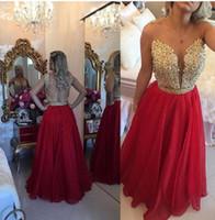 şampanya nedime elbisesi kanadı toptan satış-2017 Vestidos Longo Aplikler Dantel Bordo Altın Şampanya Kırmızı Gelinlik gelinlik Modelleri Uzun 2K17Wedding Parti Elbise Ile Kristal Kanat