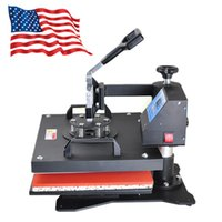 Expédition de USA 8 in1 Heat Press Machine T-shirt numérique Tasse Hat Plate Cap Transfer Sublimation