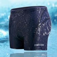 Wholesale Big Blue Swimming - Wholesale Hot sale Men PRO Racing Boxer Swimming Trunks Swimwear Waterproof Quick-drying Big Yards free shipping