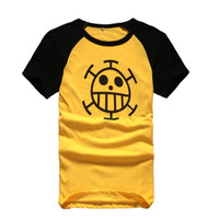 Wholesale one piece law costumes resale online - Anime One Piece Monkey D Luffy Trafalgar Law rd T shirt Cosplay Costume