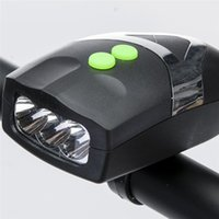 Ultra Bright 3 LED Bike Bicycle Light Bicicleta Blanc Front Head Light Lamp avec cycliste Bell Bell Hooter Siren