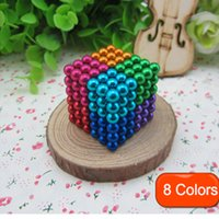 Wholesale Big Magnetic - Magic cubes 16 Colors Option 5mm 216 pcs Neo Cube Magic Puzzle Metaballs Magnetic Ball With Metal Box, Magnet Colorfull Magic Toys free DHL