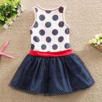 Wholesale Children Wholesale Dress - 2017 Free shipping dress baby girl clothes children dress girl bow children's clothing girl wearing summer