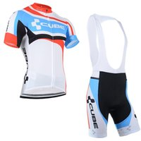 Wholesale Team Cube Cycling Jerseys - cube team Cycling Jersey Suit summer sports jersey Cycling Clothing Tour de France Men's Short sleeve shorts sets bicicleta Sportswear A1703