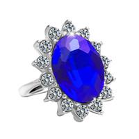 ingrosso kate diana-Unici anelli in argento sterling 925 con diamanti anelli di fidanzamento della principessa Kate Diana principe William anelli in zaffiro per gioielli da donna
