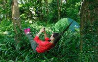 Wholesale Hammock Swing Nylon - Wholesale- Hot Selling Portable Nylon Hammock Hanging Mesh Sleeping Bed Swing 270 x 80CM High Quality Outdoor Camping Hiking Traveling Kits
