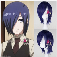 Wholesale Touka Cosplay - Tokyo Ghoul Tokyo Guru Toka Kirishima Touka Anime Short purple Cosplay wig