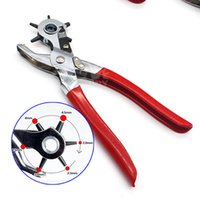 Wholesale Craft Tools Punch - 2- 4.5mm Revolving Leather Belt Eyelet Hole Punch Puncher Plier Craft Tool NEW Plier Puncher And Belt Cut Eyelet 2, 2.5, 3, 3.5, 4, 4.5mm