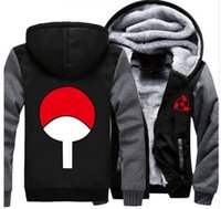 Wholesale Akatsuki Clothes - USA size Anime NARUTO Akatsuki Cosplay Zipper Jacket Thicken Hoodie Coat Clothing Casual