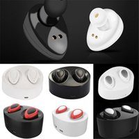 Wholesale Cell Phone Wireless Charging - TWS Mini Bluetooth Earbuds Wireless Stereo Earphone For iphone i7 plus S7 edge with Charging Socket play music Cell Phone Earphones