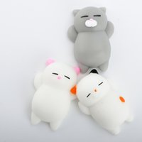 Wholesale New Polar Bear - New Lovely 3D Soft Squishy Toys Cat Panda Seal Polar Bear Cute Rabbit Stretchy Squeeze Relieve Stress Paste on Sticker for cellphone Case