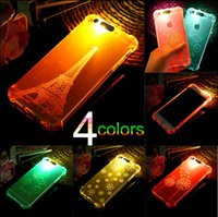 10PCS Incoming Call Flash Light Up Soft Shockproof Cell Phone Protetor Cover Case para iPhone 5 5S 7 7 6 6s Plus SJK-034