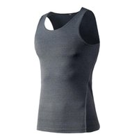 Wholesale Wholesale Basketball Vests - New Quickly Dry Mens Running vests training tight-fitting vest basketball fitness gym perspiration quick-drying vest clothes