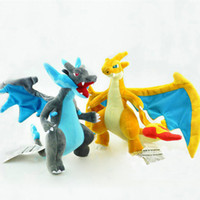 """Wholesale Evolution X - EMS New 2 Styles 9""""-10"""" 23-25CM Mega Evolution X&Y Charizard Poke Doll Plush Anime Pocket Monsters Party Gifts Soft Stuffed Toys"""