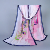Wholesale Digital Printing Silk Scarves - Wholesale-women's voile shawls High quality female digital print silk scarves 2015 new fashion ladies' brand letter scarfs wholesale gift