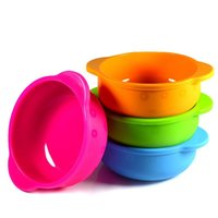 Wholesale solid silicone babies resale online - Child Silicone Bowl Baby Feeding Do Not Break Bowls FDA Security Convenient Eco Friendly Material Multicolor Select ny I1