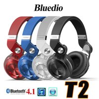 Bluedio T2 Turbo auriculares auriculares Bluetooth 4.1 con auriculares estéreo Mic Auriculares diadema para Apple iPhone Android teléfono Samsung