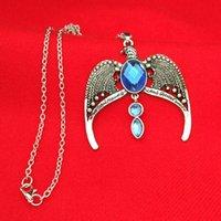 Wholesale Eagle Charm Antique - The lost crown of Ravenclaw crown necklace Ravenclaw's diadem Rowena Ravenclaw pendant horcrux vintage antique silver eagle crown 160370