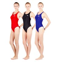 Wholesale Colorful Women Suits - HXBY Women Girls Colorful One Piece Fastskin Sport Competition Racing Technical Full Knee Length Swimwear Swimsuit-280