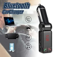 Wholesale Sd Card Mp3 Kit - BC06 Bluetooth Car Charger For MP3 MP4 Player Mini Dual Port AUX FM Transmitter Wireless Kit Support Hands-free Micro SD TF Card U Disk