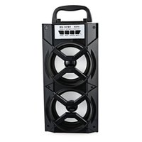 Wholesale slot track online - MS BT Portable High Power Output MP3 FM Radio Wireless Bluetooth Speaker with USB TF Card Slot Support AUX Song Tracks