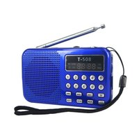 All'ingrosso-Mini portatile dual band LED Digital ricaricabile display stereo FM altoparlante radiofonico mirco USB TF per SD Card MP3 Music Player