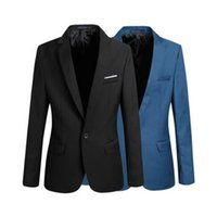 Wholesale Long Plus Size Blazer - Casual Blazer Men Fashion Plus Size Business Slim Fit Jacket Suits Masculine Blazer Coat Button Suit Men Formal Suit Jacket