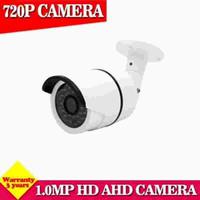 Wholesale night vision home surveillance system online - Analog IR outdoor Waterproof Bullet IR CUT MP P AHD Camera Night Vision AHD M CCTV Camera for home surveillance system