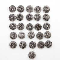 Wholesale letters ginger snaps jewelry for sale - Group buy Vintage Ginger snap charm button A to Z English letter fit diy snap jewelry Style