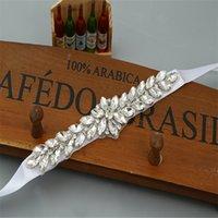 Wholesale Vintage Rhinestone Belts - New Arrive Wedding Sashes Elegant Rhinestone Vintage Crystal Wedding Party Bride Bridesmaid Belt Dress Flower Sash Accessories
