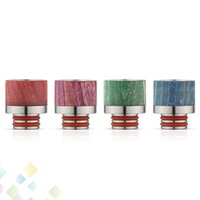 Wholesale Wood O Ring - 510 Drip Tip Stable Wood Wide Bore Drip Tips Stainless Steel Stable Wood Material Dual O Rings Mouthpiece fit 510 Atomizer DHL Free
