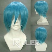 Wholesale Wig Soul Eater - Wholesale free shipping >>>>Short layered SOUL EATER-Black star Light Blue Anime Cosplay Party Wig HAIR