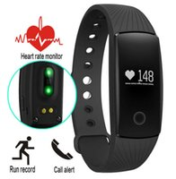 Wholesale id107 smart bracelet for sale - Fitbit Bracelet ID107 Smart Watch Bluetooth with Heart Rate Monitor Fitness Tracker for Android IOS Phone