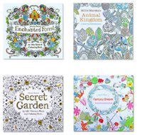 2017 PrettyBaby Secret Garden Coloring Book Painting Drawing 24 Pages Animal Kingdom Enchanted Forest Relieve Stress For Children Adult UK
