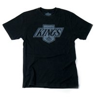 Wholesale Cool Vintage Shirts - Men Print Cotton O Neck Shirts NHL Los Angeles Kings Brass Tacks Vintage Style T-Shirt Tops Summer Cool Funny T-Shirt