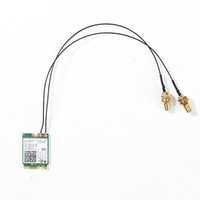 Wholesale Wireless Router Antenna Cable - Wholesale- 2Pcs U.FL IPEX MHF4 to RP-SMA 0.81mm RF Pigtail Cable Antenna for NGFF M.2 7260NGW 8260NGW 8265NGW WiFi Wireless router
