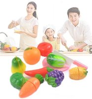 Venda por atacado New Fruit Cutting Set Role Play Pretender Reutilizável Fruit Vegetable Food Kitchen