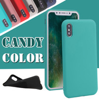 Pour iPhone X Case Ultra Thin Jelly Candy Solid Color Matte Dull Polish Grinding TPU Cover pour iPhone 8 Plus 7 6 6s Samsung Note 8 S8 S7 Edge