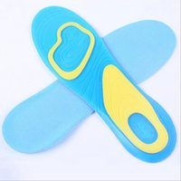 Wholesale Active Walking - 1 Pair x Silicone Gel Active Gel Mens Insoles Work Walking Sports Extra Comfort Shock Absorption JKBD0002