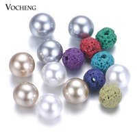 Wholesale 6mm Pearl - 50pcs lot Mix Colors Aromatherapy Ball 6mm Essential Oil Diffuser Perfume Balls Natural Stone for Pearl Locket VA-532