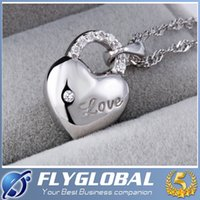 Wholesale Swarovski Elements Hearts - 2016 NEW 925 Sterling Silver Necklace Love Charm Hollow Heart Shape Necklaces Swarovski Elements Crystal Pendant Necklaces Jewelry