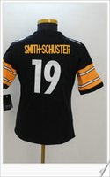 Wholesale Uniform Shirts For Women - Womens #19 JuJu Smith-Schuster Color rush American College Football Stitched Uniforms Embroidery Sports Shirts Team Pro Jerseys For Sale