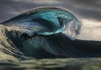 ingrosso pittura a olio d'onda-Incorniciato, trasporto libero, onda di mare seascape enorme, puro artigianato di arte della pittura a olio di alta qualità su tela di cotone multi dimensioni, R218 #