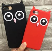 Wholesale goophone 5s - 3D Soft Silicone Lovely Owl Soft Back Cover Case For iPhone X Plus S Plus S SE goophone i8 i7