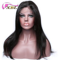 Wholesale XBL Silky Straight Human Hair Wig Brazilian Straight Full Lace Human Hair Wigs Within Three Hair Clips