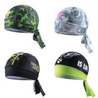 Wholesale Camo Scarves - Quick Dry Pure Camo Cycling Cap Head Scarf Headscarf Headband Summer Men Riding Bandana Motorcycle Ciclismo Pirate Hat Hood